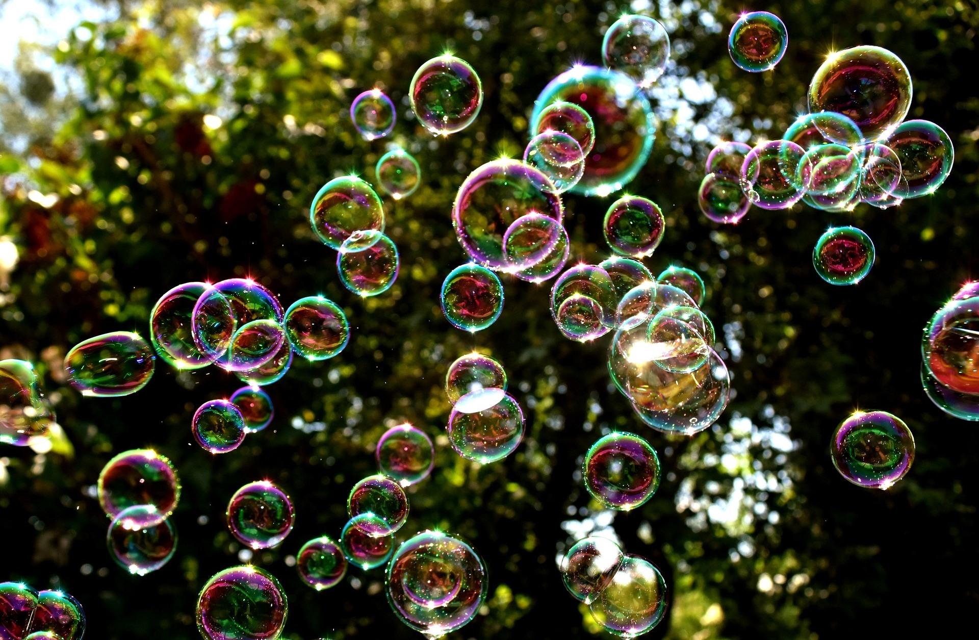 Seifenblasen Tanz Luft Bewegung